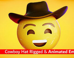 3D model Cowboy Hat Animated Emoji Reaction