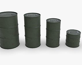 Army chemical barrels 3D asset