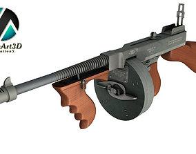 Tommy gun Machinegun 3D