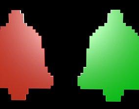 Speaker symbols voxel 3D model