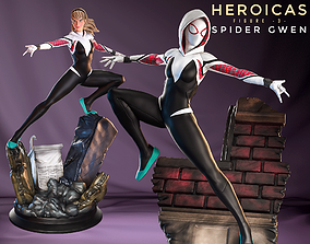 Heroicas - Figure 3 - Spider Gwen - STL - 3D Print