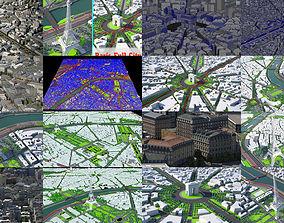 3D Arc De Triomphe Paris and Paris city