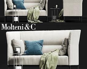 Molteni CAMDEN High Backrest Sofa 3D asset