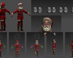 3D model animated Santa