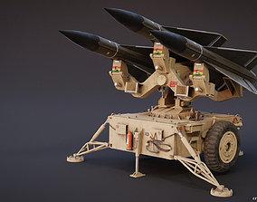 Mim-23 Hawk Air defense system - game-ready rigged