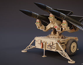 Mim-23 Hawk Air defense system - game-ready rigged