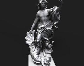 Apollo slaying the Python 3D print model