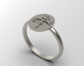 Prince Sott Mini Love Signet Ring With 3D print model