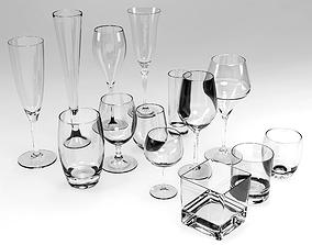 GLASSES SET 3D model VR / AR ready