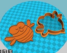 Stl file Honey Bee cookie cutte 3D print model