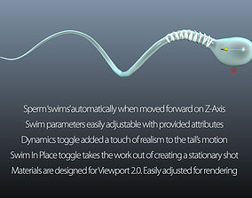 3D model Auto-Swimming Sperm