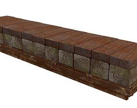 Wooden Boards 01 3D asset