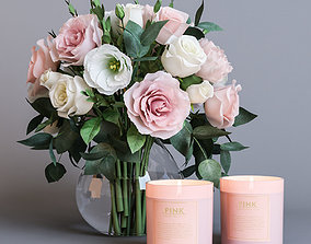 Flowers and candles 3D