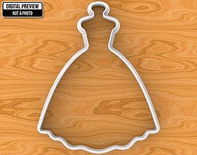 dining 3D printable model Wedding Dress Cookie Cutter