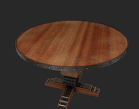 3D model furniture round table