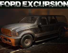 3D model low-poly Ford Excursion 1999 - LowPoly
