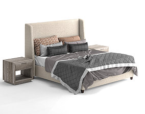 3D Belmont fabric bed by Restoration Hardware