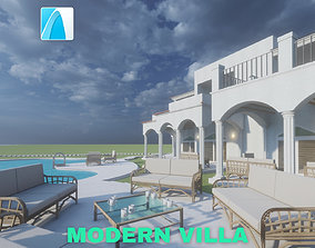 Modern Villa with Private Pool on 3D model 4
