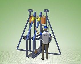 Trebuchet Floating Arm Type 3D
