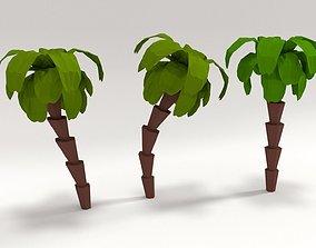 palm tree 3D model low-poly