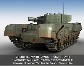 3D Churchill MK III - AVRE - Lynx