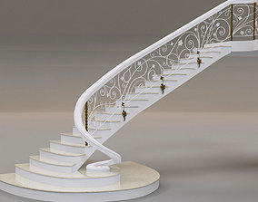 3D model classical staircase 4