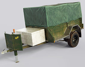 3D model Car Trailer Vehicle Carrier