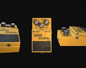 Super Overdrive Distortion Pedal for Guitar 3D