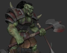 Orc with an axe 3D printable model