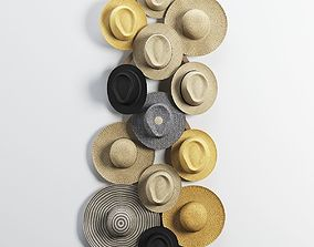 Decorative set of hats 3D