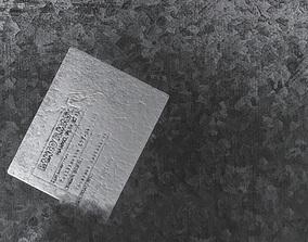 3D model PBR Text Metal