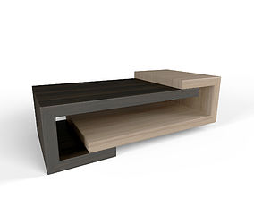 3D model Minimal style Wooden Coffee Table