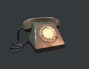 3D asset Retro Telephone