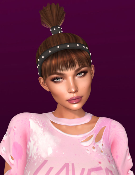 Hairstyle 3d mesh for Second Life