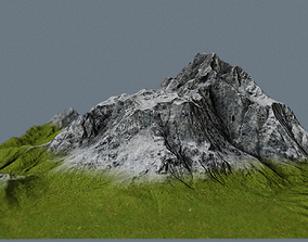 poly 3D model low-poly Mountain