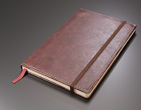 3D asset Worn Leather Notebook
