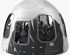 Blue Origin New Shepard Crew Capsule 3D