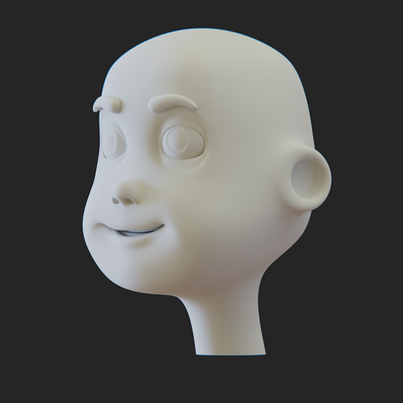 Cartoon Head Lowpoly