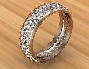 diamond-ring gold Ring 3D printable model