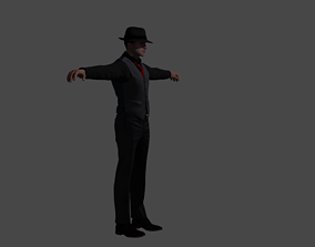 Detective Noir 3d model SkeletalAndAnimated animated
