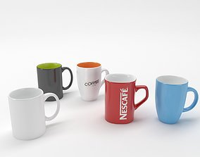 lunch coffee cups 3D
