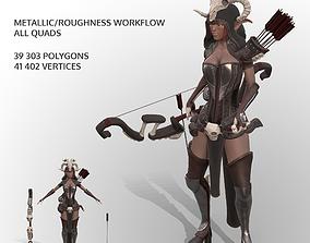 Elven Huntress 3D model