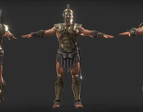 Spartan Warrior A pose for Game 3D model
