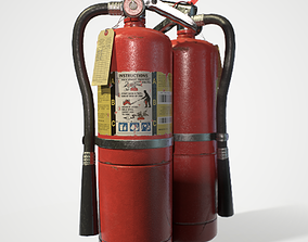 ABC Dry Chemical Fire Extinguisher 10 lb 3D model