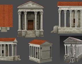 3D asset Athens antique house