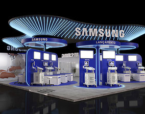 23x13 Island Exhibition Stand 3D Model stall