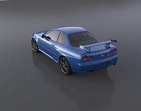 3D Nissan skyline GT-R r34