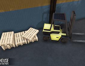 3D asset Warehouse - hangar interior and props
