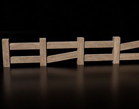 realtime Wooden Fence 1 - Low Poly Wooden Fence Panels - 1