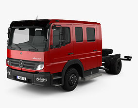3D Mercedes-Benz Atego Crew Cab Chassis Truck 2004